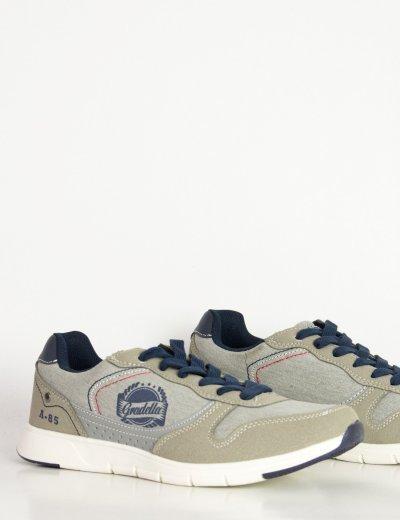 Ανδρικά γκρι υφασμάτινα Sneakers παπούτσια K705014