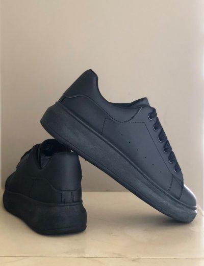 Ανδρικά μαύρα δίσολα Sneakers λαστιχένια σόλα M723X