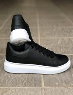 Ανδρικά ασπρόμαυρα δίσολα Sneakers λαστιχένια σόλα M723L