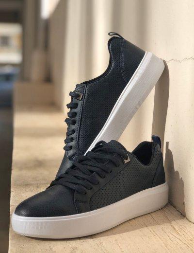 Ανδρικά μπλε Casual Sneakers με λευκή σόλα TL89038Z