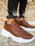 Ανδρικά ταμπά Sneakers δερματίνη τρακτερωτή σόλα CH089T