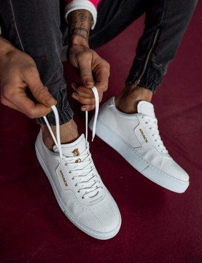 Ανδρικά λευκά Casual Sneakers με κορδόνια 0602020A