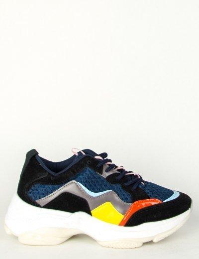 Γυναικεία μπλε αθλητικά δίσολα Sneakers σχέδια 70504