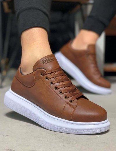 Ανδρικά κάμελ Casual Sneakers με κορδόνια 0442020C
