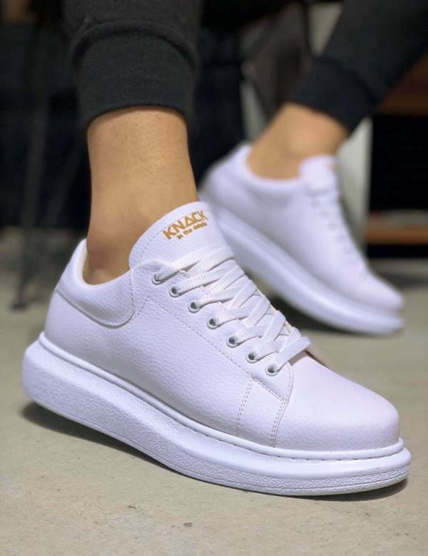 Ανδρικά λευκά Casual Sneakers με κορδόνια 0442020L