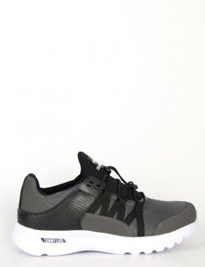 Ανδρικά γκρι αθλητικά Sneakers με ελαστικά κορδόνι TL89014L