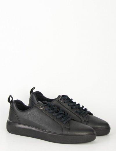 Ανδρικά μαύρα Casual Sneakers με κορδόνια TL89026
