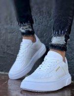 Ανδρικά λευκά Sneakers δερματίνη CH087E