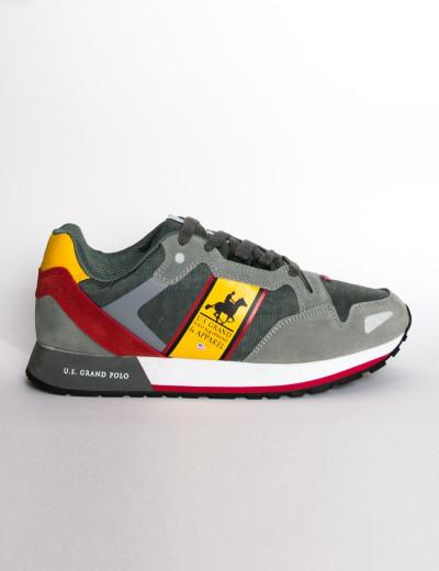 Us Grand Polo ανδρικά γκρι casual sneakers διχρωμία USGP0026