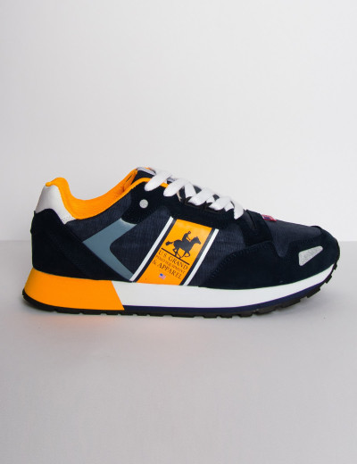 Us Grand Polo ανδρικά μπλε casual sneakers διχρωμία USGP0026Z