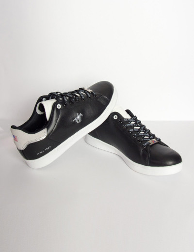Us Grand Polo αδρικά μαύρα casual sneakers USGP0001F