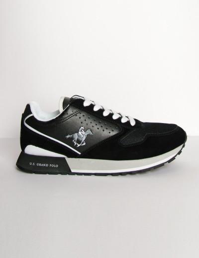 Us Grand Polo ανδρικά μαύρα casual sneakers διχρωμία USGP0012Q