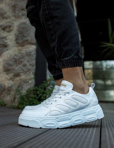 Ανδρικά λευκά Casual Sneakers δίσολα CH105A