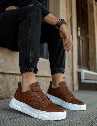 Ανδρικά κάμελ Casual Sneakers δίσολα CH105Β