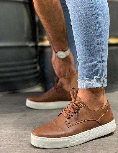 Ανδρικά κάμελ Casual Sneakers δίσολα 0502020