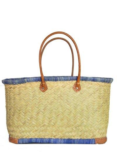 Γυναικεία μπεζ ψάθινη τσάντα ώμου τετράγωνη 501050