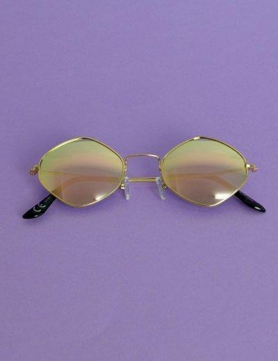 Γυναικεία στρογγυλά πολύγωνα γυαλιά μπρονζέ Premium S7122Q