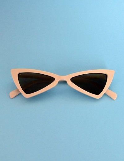 Γυναικεία γυαλιά ηλίου τριγωνικά πεταλούδα μπεζ Premium S2643V