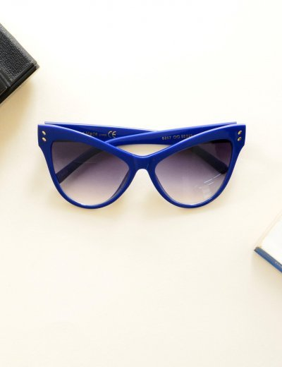 Γυναικεία γυαλιά ηλίου πεταλούδα μπλε Handmade S6207Q