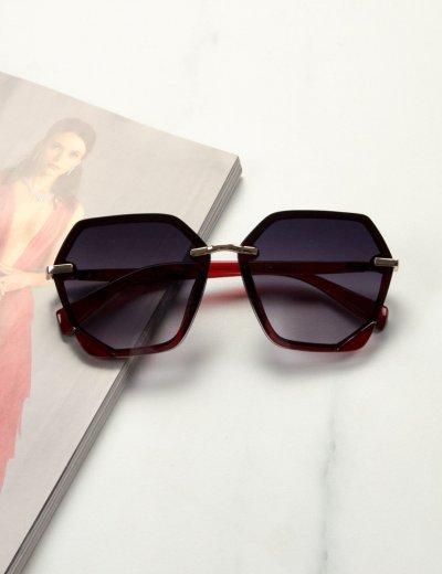 Γυναικεία μαύρα ντεγκραντέ γυαλιά ηλίου με κόκκινο σκελετό Premium S1104R