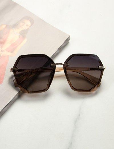 Γυναικεία καφέ ανοιχτό ντεγκραντέ γυαλιά ηλίου Premium S1104B
