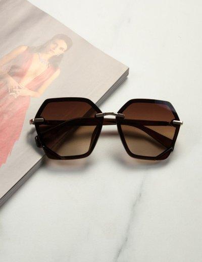 Γυναικεία καφέ σκούρο ντεγκραντέ γυαλιά ηλίου Premium  S1104