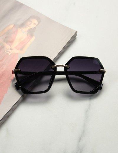 Γυναικεία μαύρα ντεγκραντέ γυαλιά ηλίου με μαύρο σκελετό Premium S1104L