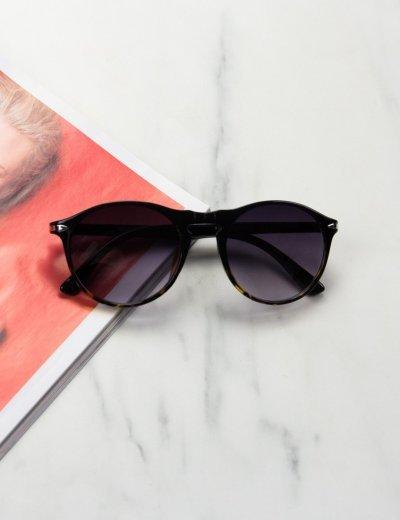 Γυναικεία μαύρα λεοπάρ γυαλιά ηλίου κοκκάλινα Luxury S1114R