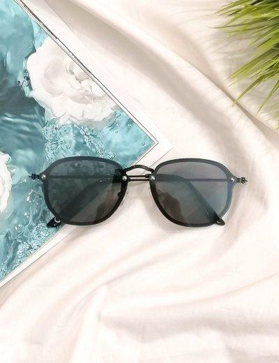 Γυναικεία μαύρα γυαλιά ηλίου με μαύρο μεταλικό σκελετό Luxury S7127C