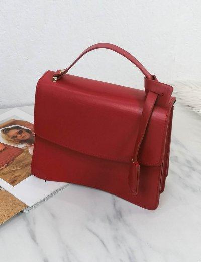Γυναικείο κόκκινο τετράγωνο τσαντάκι χειρός 210346C