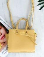 Γυναικείο κίτρινο τσαντάκι χειρός 210349J