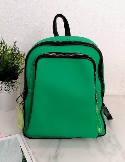 Γυναικείο πράσινο Backpack ανάγλυφο σχέδιο 210340K