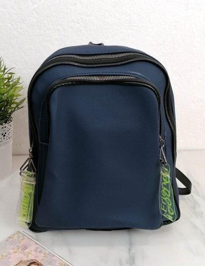 Γυναικείο μπλε Backpack ανάγλυφο σχέδιο 210340X