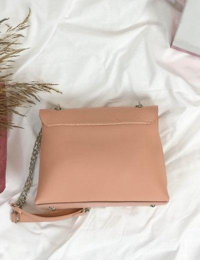Γυναικείο ροζ καπιτονέ τσαντάκι χιαστί 210353R
