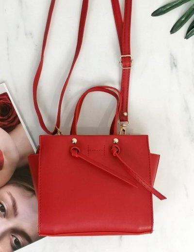 Γυναικείο κόκκινο τσαντάκι χειρός 210349B