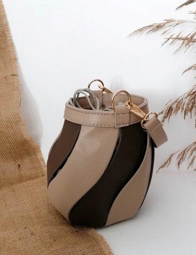 Γυναικείο πούρο δίχρωμο τσαντάκι πουγκί 210347I