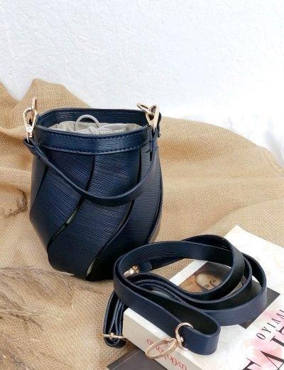 Γυναικείο μπλε τσαντάκι πουγκί 210347P