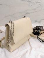 Γυναικείο λευκό καπιτονέ τσαντάκι χιαστί 210353