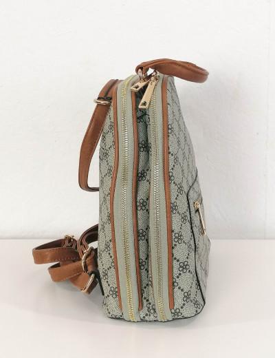 Γυναικείο γκρι Backpack δερματίνη 593592