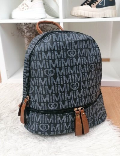 Γυναικείο μπλε Backpack δερματίνη με σχέδια 4335