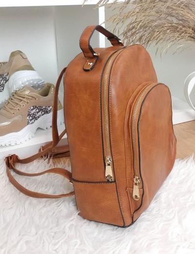 Γυναικείο κάμελ Backpack δερματίνη 0911165W