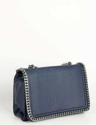 Γυναικεία μπλε κροκό τσάντα ώμου δερματίνη PB288L