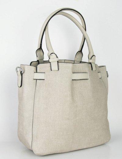 Γυναικεία γκρι τσάντα ώμου μονόχρωμη ανάγλυφη 266266G