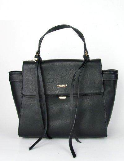 Γυναικεία μαύρη κλασσική τσάντα ώμου με λαβή δερματίνη DJX17021W