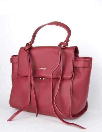 Γυναικεία κόκκινη κλασσική τσάντα ώμου με λαβή δερματίνη DJX17021U