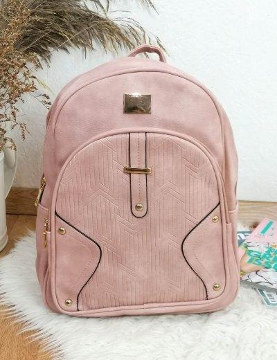 Γυναικείο ροζ Backpack δερματίνη 66177R