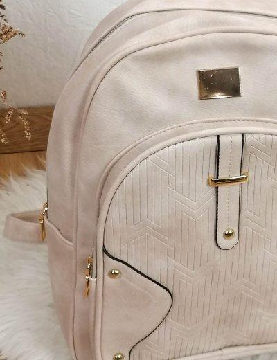 Γυναικείο εκρού Backpack δερματίνη 66177