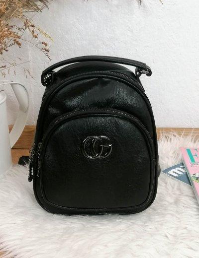 Γυναικείο μαύρο mini Backpack 00621