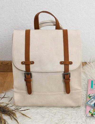 Γυναικείο εκρού Backpack με λουράκια 20061E