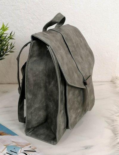 Γυναικείο γκρι τετράγωνο Backpack 628628E